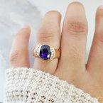 Arizona Amethyst™ Gold Jewelry Half Bezel Oval Ring