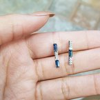 American Gem Collection™ Sapphire Bar Earrings