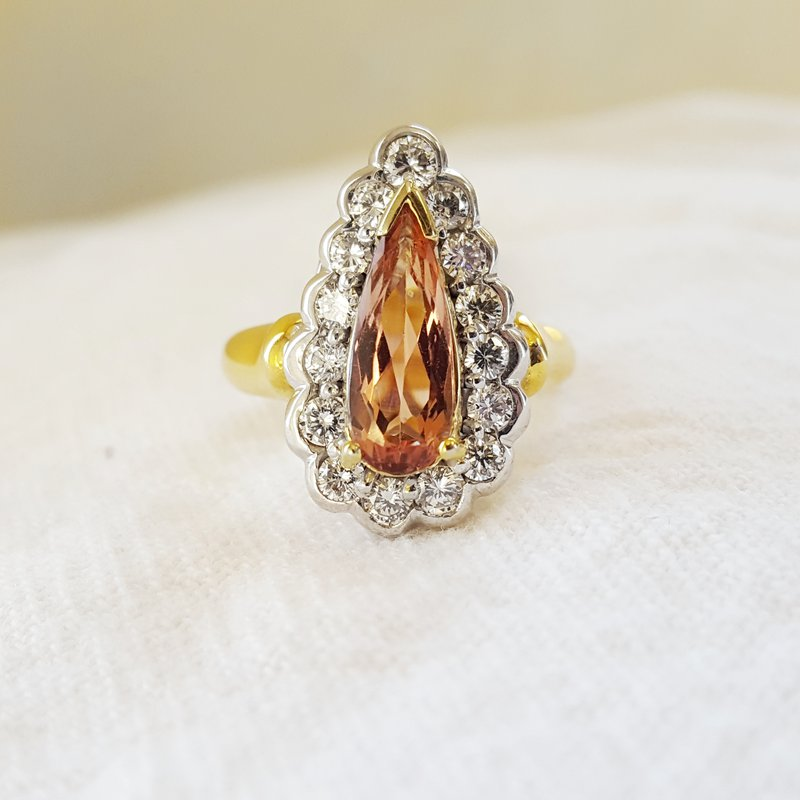Luxury by Rene Hernandez Imperial Topaz Ring