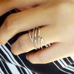 Sami Fine Jewelry Negative Space Geometric Diamond Ring