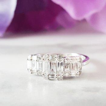 Three Stone Style Ring