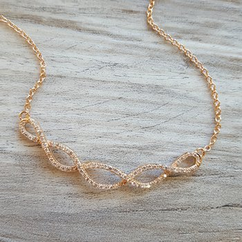 Intertwined Diamond Necklace