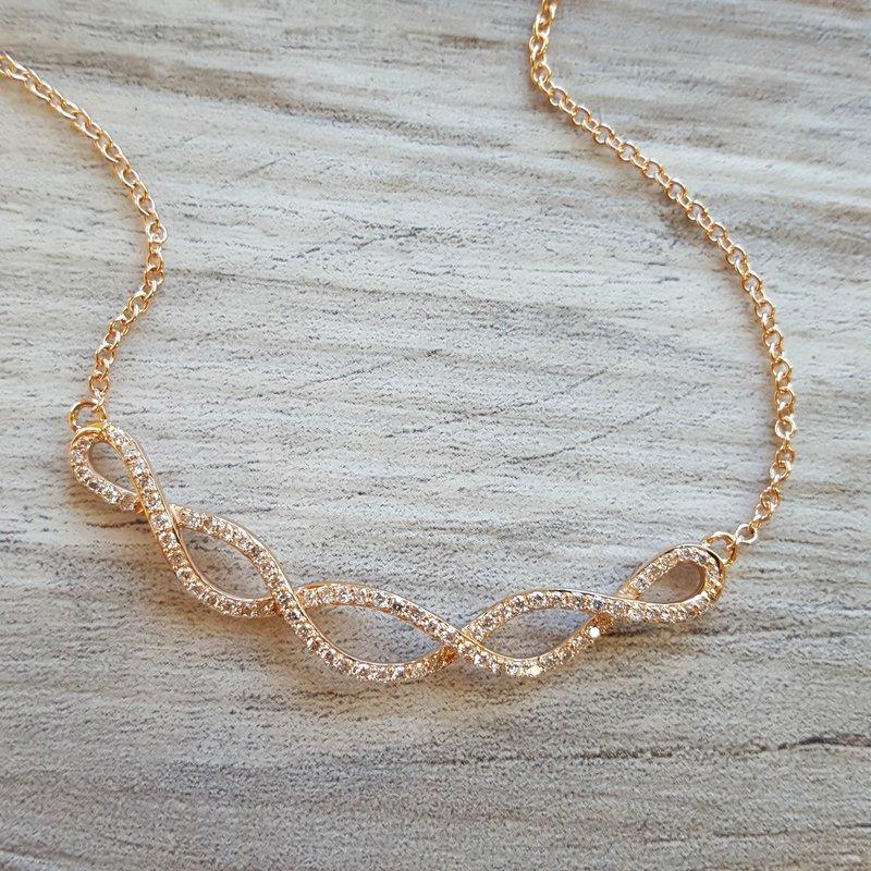 Sami Fine Jewelry Intertwined Diamond Necklace