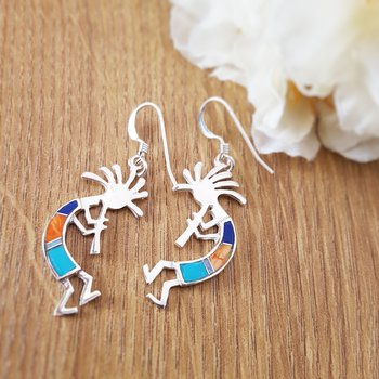 Kokopelli Flute Man Earrings