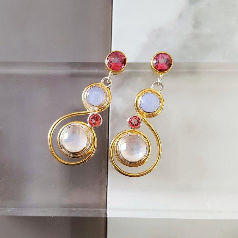 Michou Swirl Dangle Earrings