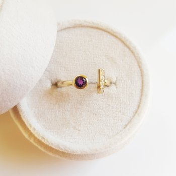 Arizona Amethyst Simplistic Ring