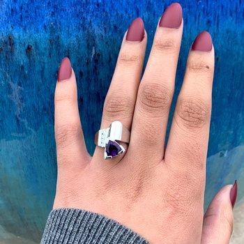 Arizona Amethyst Trillion Ring
