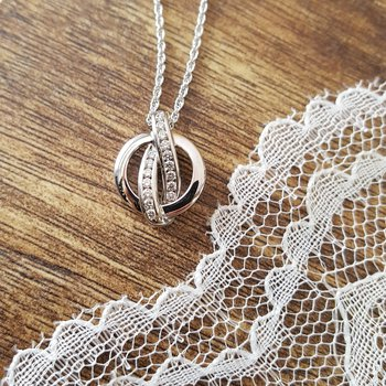 Circle Diamond Necklace