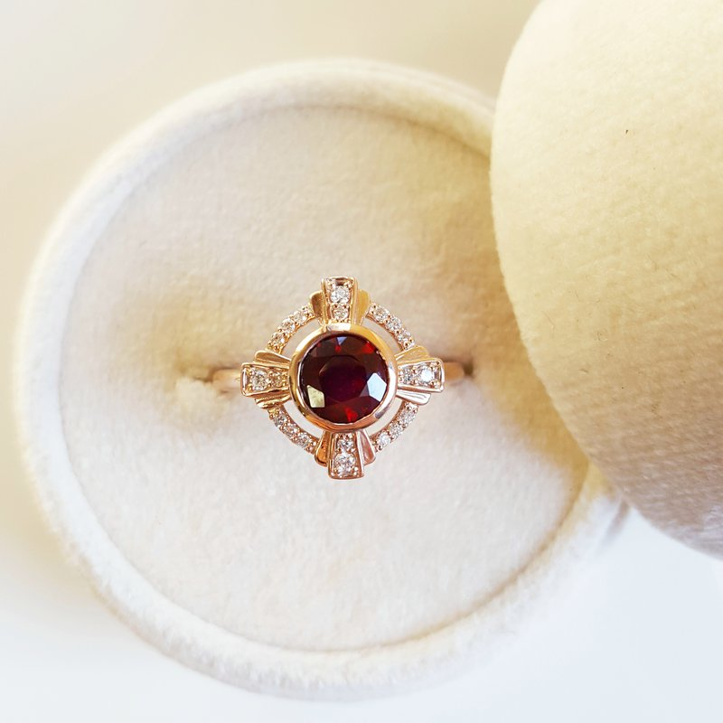 Arizona Anthill Garnet Gold Jewelry Deposit for Custom Ring