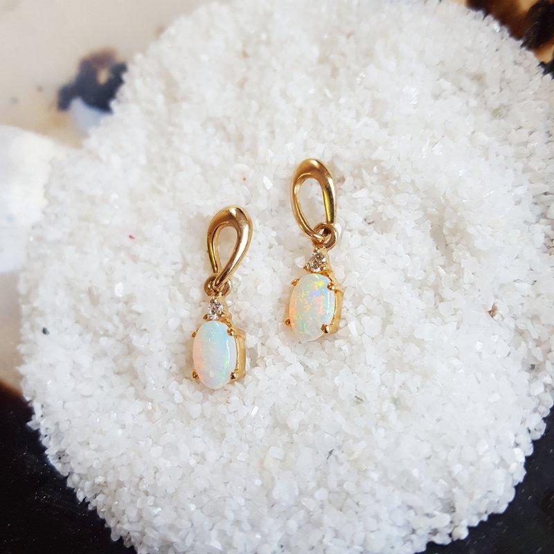 Sami Fine Jewelry Oval Opal Earrings