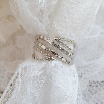 Geometric Diamond Ring