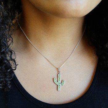Saguaro Cactus Necklace