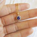 Sami Fine Jewelry Sapphire Halo Necklace