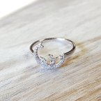 Sami Fine Jewelry Crescent Moon Cascade Diamond Ring
