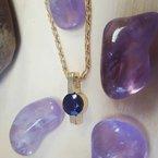 Arizona Amethyst™ Gold Jewelry Amethyst Bar Pendant