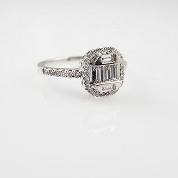 Diamond Pie-Cut Ring