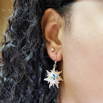Multicolored Sun Dangle Earrings