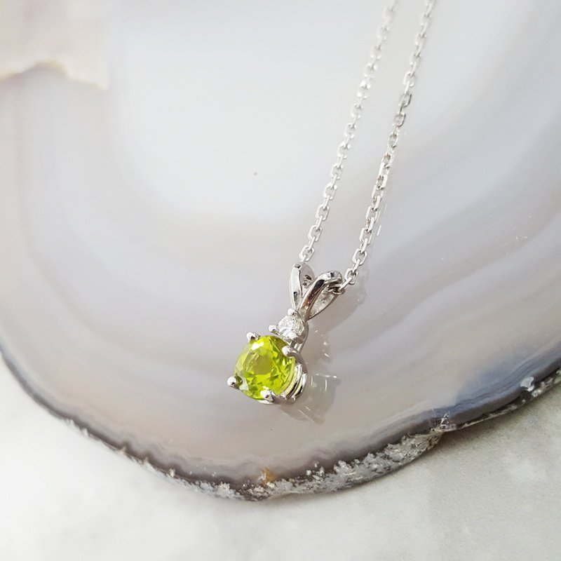 Arizona Peridot Gold Jewelry Split Bale Pendant