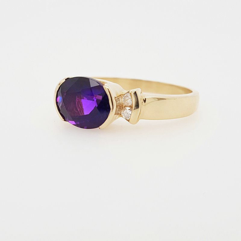 Arizona Amethyst™ Gold Jewelry Oval Amethyst Ring