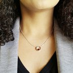 Arizona Anthill Garnet Silver Jewelry Encircle Pendant