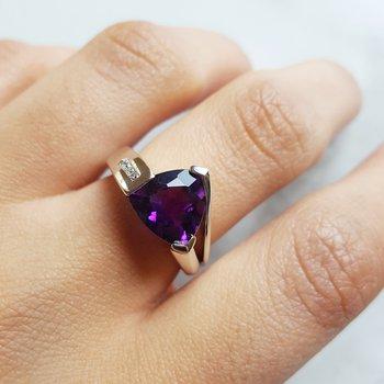 Trillion Cut Asymmetrical Ring