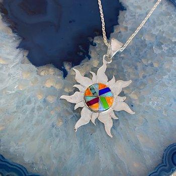 Multicolored Sun Pendant