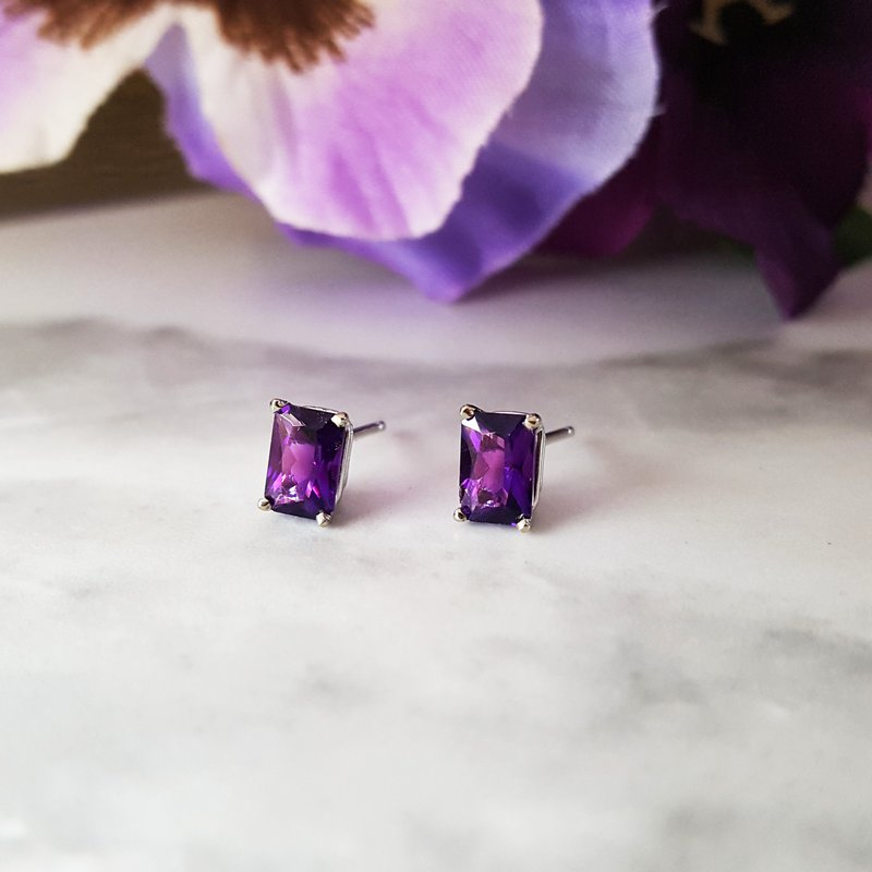 Arizona Amethyst™ Gold Jewelry Essential 1CT Radiant Cut Studs