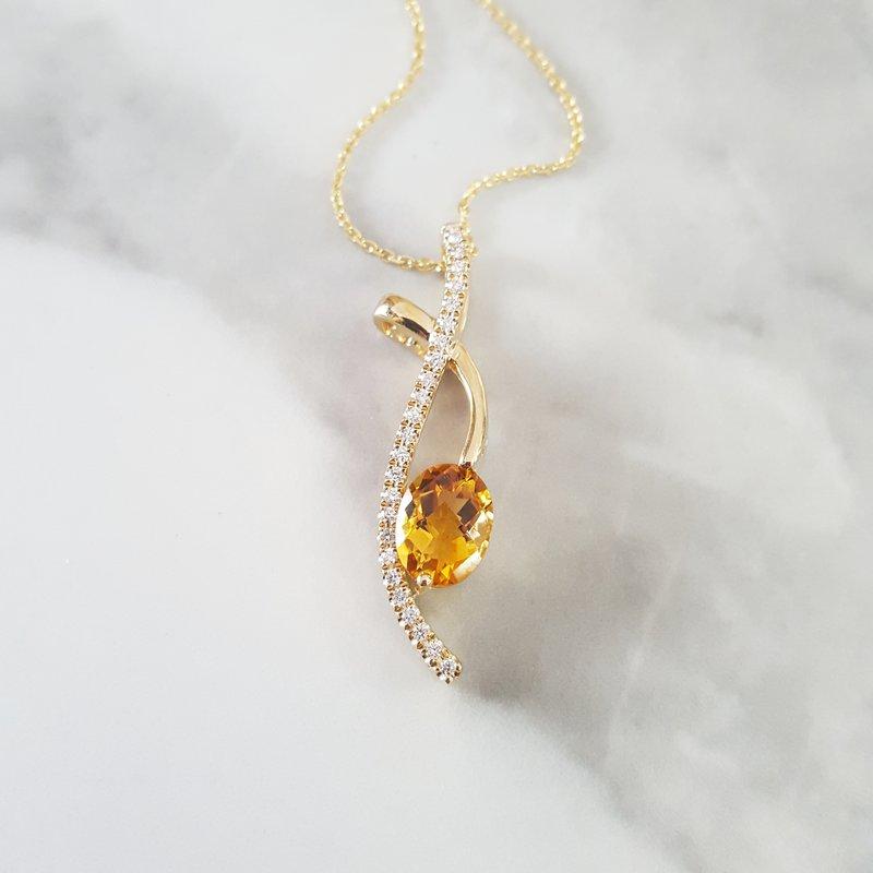 Sami Fine Jewelry Citrine Free Form Pendant