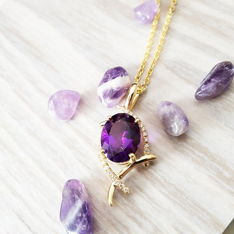 Arizona Amethyst™ Gold Jewelry Amethyst Pendant