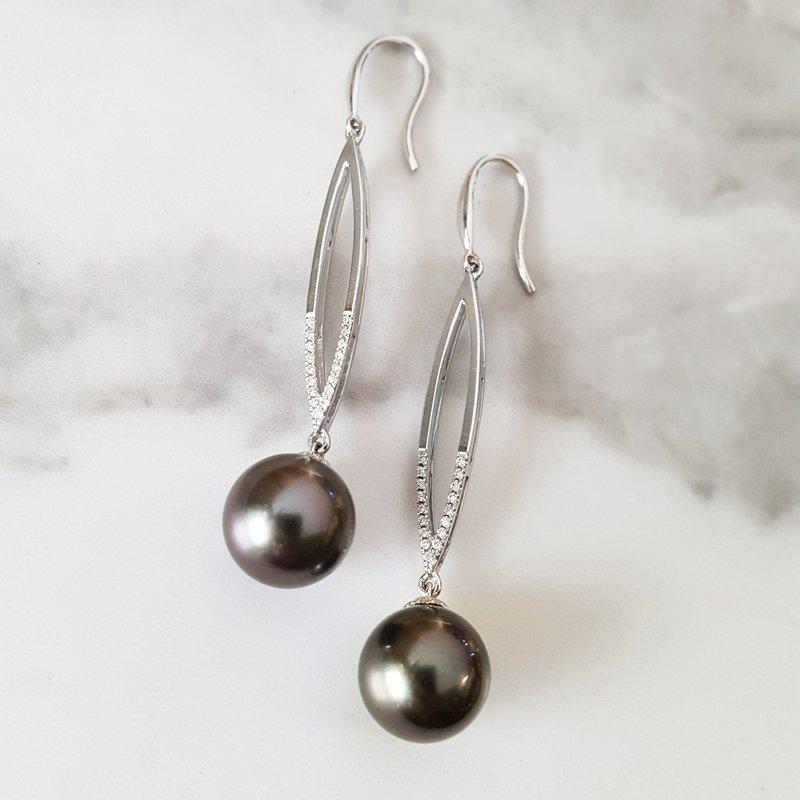 Sami Fine Jewelry Tahitian Pearl Earrings