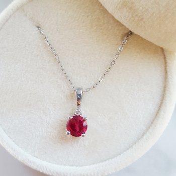 July Ruby Pendant