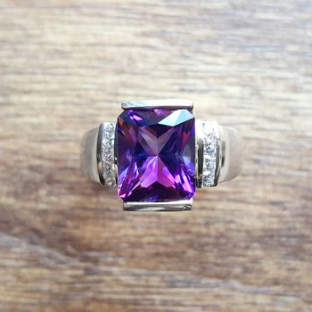 Accented Radiant Ring