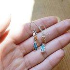 Arizona Turquoise and Inlaid Jewelry Mod Infinity Dangle Earrings