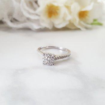 1/2 Carat Cluster Ring
