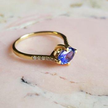 Simplistic Tanzanite Ring