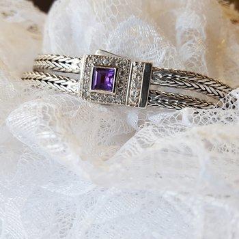 Woven Amethyst Bracelet