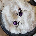 Arizona Amethyst™ Gold Jewelry Amethyst Marquise Wave Ring