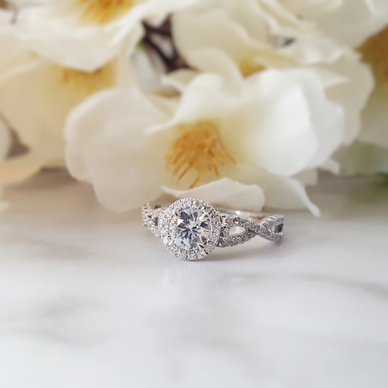 Sami Fine Jewelry Halo Engagement Ring