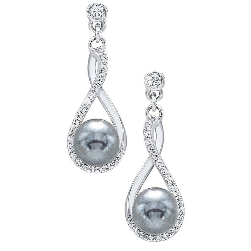 Gems One Black Pearl Drop Earrings
