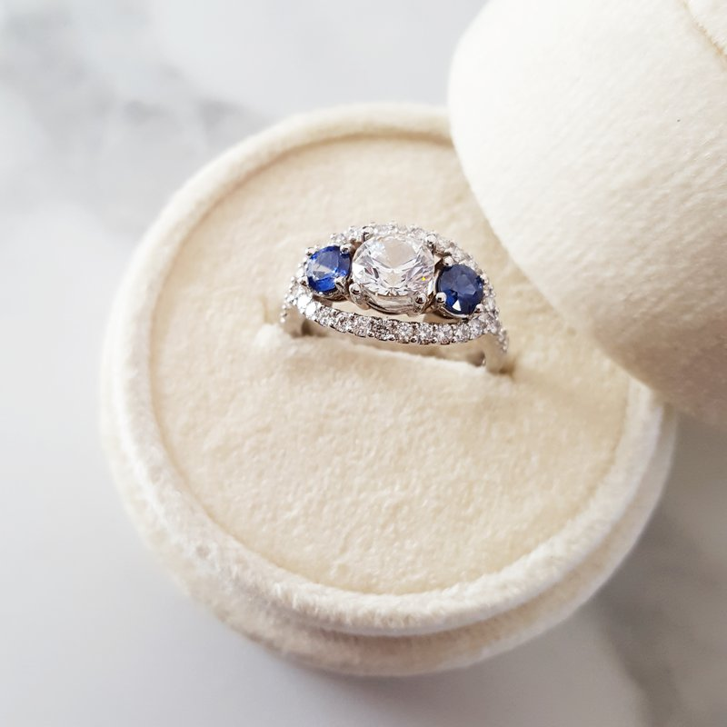 Sami Fine Jewelry Sapphire Accented Ring