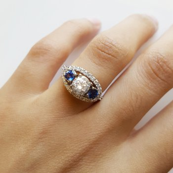 Sapphire Accented Ring