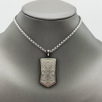 Engraved Crest Dog Tag