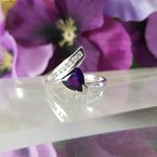 Arizona Amethyst™ Gold Jewelry Swirl Trillion Amethyst Ring