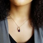 Arizona Amethyst™ Gold Jewelry Teardrop Pendant