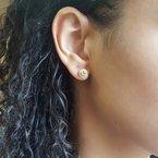 Sami Fine Jewelry Peridot Halo Studs