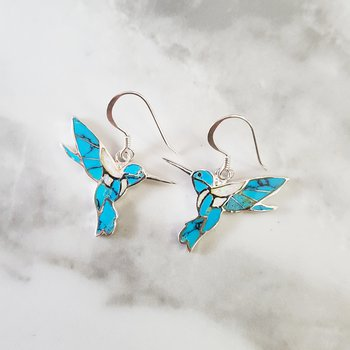 Fluttering Hummingbird Earrings