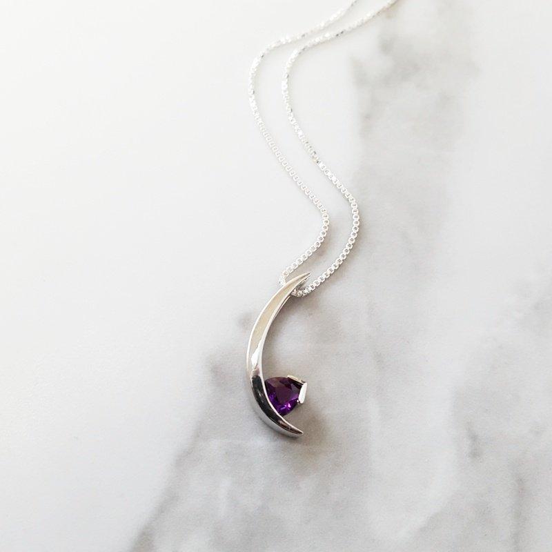 Arizona Amethyst™ Silver Jewelry Arizona Amethyst Crescent Pendant
