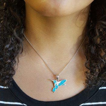 Fluttering Hummingbird Pendant