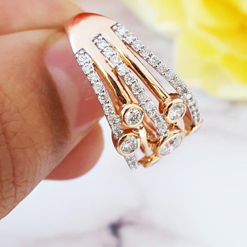 Sami Fine Jewelry Layered Diamond Ring