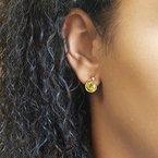 Arizona Peridot Gold Jewelry Peridot Shooting Star Earrings
